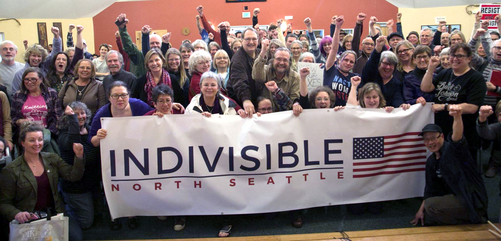 North Seattle Progressives (with old banner)